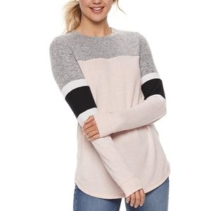Miss Chievious Color Block Sweater Size Small